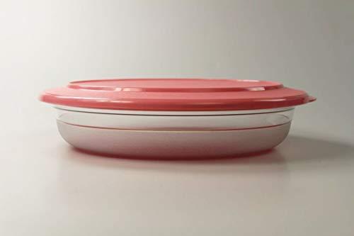 Tupperware Tafelperle 1,3L rosa Schüssel Servieren Schale flach OHNE Rand 37566