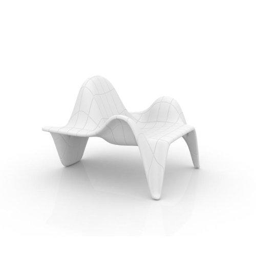 vondom F3del reposabrazos silla/sillón, color blanco