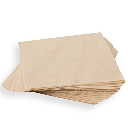 "Natural Kraft Parchment 5"" x 5"" Squares Wrappers for Caramels"