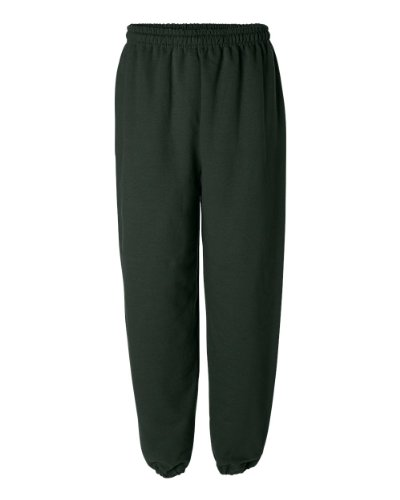 Gildan mens Heavy Blend 8 oz. 50/50 Sweatpants(G182)-FOREST GREEN-2XL
