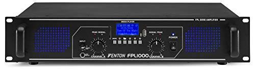 Fenton FPL1000 Amplificatore Digitale - 2 x 500 Watt , Funzione Bluetooth , Lettore Multimediale...