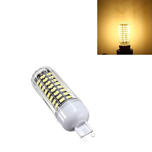 NINGXUE-MAOY Luz de maíz G9 9W 80 SMD 5733 1100LM LED Cubrir la Bombilla de maíz AC 110 Blanco Caliente Blanco Bulbos DIRIGIÓ (Color : Warm White G9)
