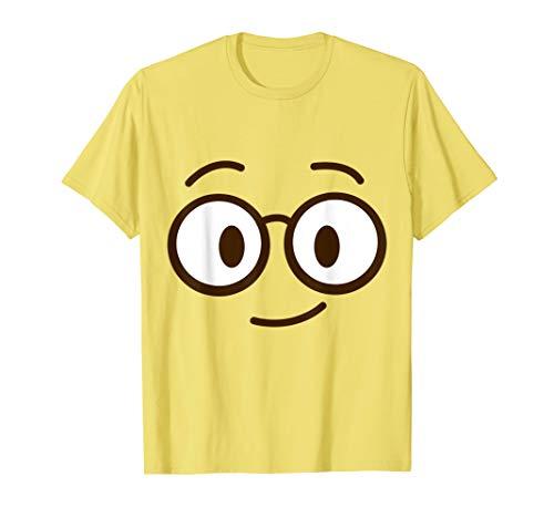 Brillen Emoji Lustiges Karneval Shirt Faschings Kostüm T-Shirt