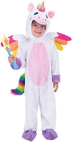 Spooktacular Creations Unicorno Costume Set per Bambini Halloween Vestito Unicorno Animal Dress Up Party, Giochi di Ruolo e Cosplay (Bianco) (White, Toddler)