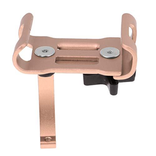 SM SunniMix Soporte de Montaje en Manillar de Motocicleta para Teléfono Celular GPS Rotación de 360 °, Abrazadera Ajustable Fuerte - Dorado