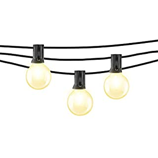 Mr. Beams 1W G40 Globe Bulb LED Weatherproof Indoor/Outdoor String Lights, 25', Black (B07TLNT89Z) | Amazon price tracker / tracking, Amazon price history charts, Amazon price watches, Amazon price drop alerts