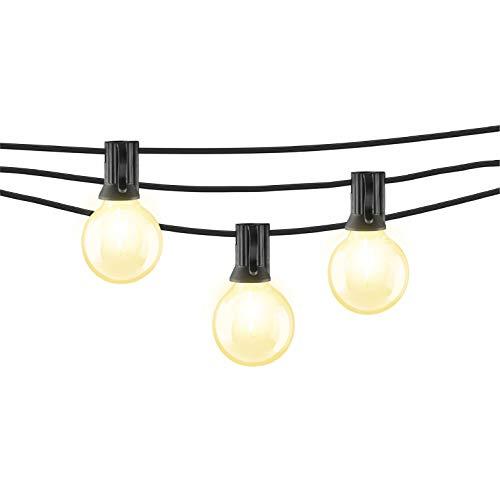 Mr Beams 1W G40 Globe Bulb LED Weatherproof Indoor/Outdoor String Lights, 25 feet, Black