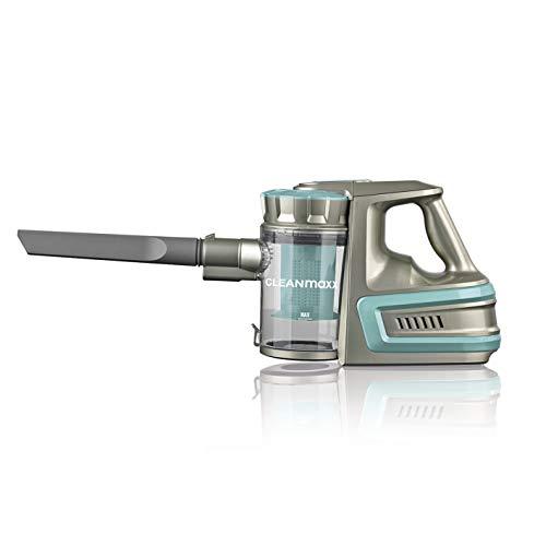 CLEANmaxx Akku-Zyklonsauger Cordless Power | Kabelloser Handstaubsauger, 2000 mAh Li-Ion Akku | Saugkraft-Regulierung in 2 Stufen [40min Akkulaufzeit, 72cm Alu-Steckrohr] (Türkis)
