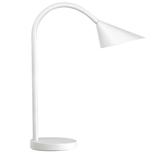 UNILUX 400077404 Sol in weiß - moderne LED-Schreibtischlampe, flexible Schreibtisch-Leuchte Lampe für Kinder Tischlampe Leselampe blendfrei