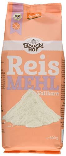 Bauckhof Reismehl Vollkorn Demeter, 6er Pack (6 x 500 g)