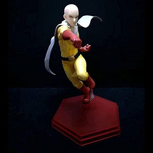 Saitama Anime Figura One Punch Man Hero Traje / PVC Estatua esttica Estatua Juguete / Persona Modle Poupe / Anniversaire Cadeaux De Nol / Personnages de Jeu de Dsin Anim / Animation Familiale /
