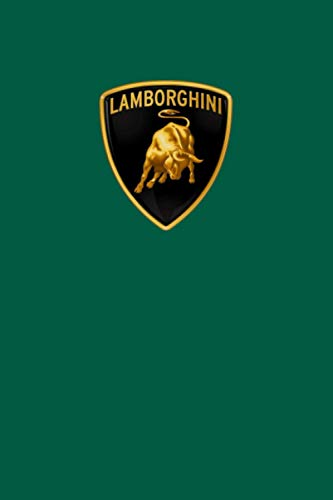 Lamborghini Notebook: Lamborghini Notebook for fans, Dream cars Lamborghini Notebook: 110 white lined pages 6 x 9 inches - matte finish
