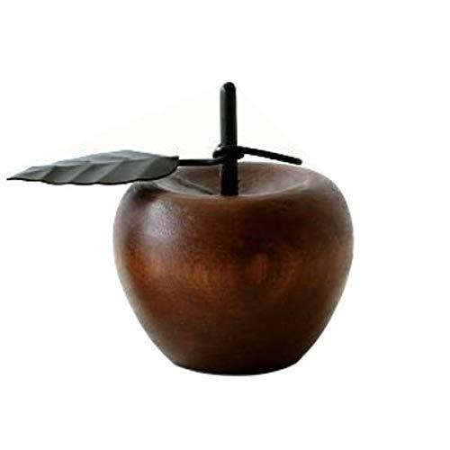 リンゴ 木製 置物 オブジェ インテリア りんご デザイン 置き物 木 マンゴーウッドのオブジェ [kan6851] (B)