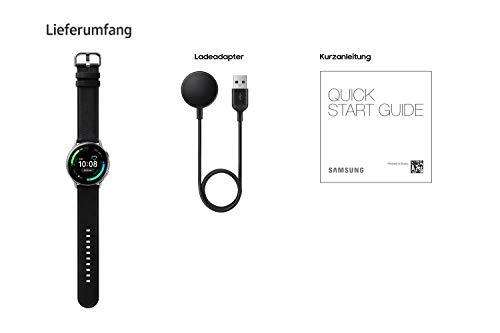 Samsung Galaxy Watch Active2, Fitnesstracker aus Edelstahl, großes Display, ausdauernder Akku, wassergeschützt, 40 mm, LTE, Silber