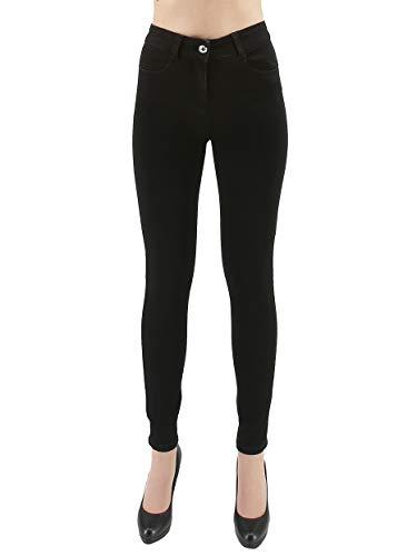 PATRIZIA PEPE Jeans Donna Nero Skinny Fit Stretch Super Wow Jeans, 26