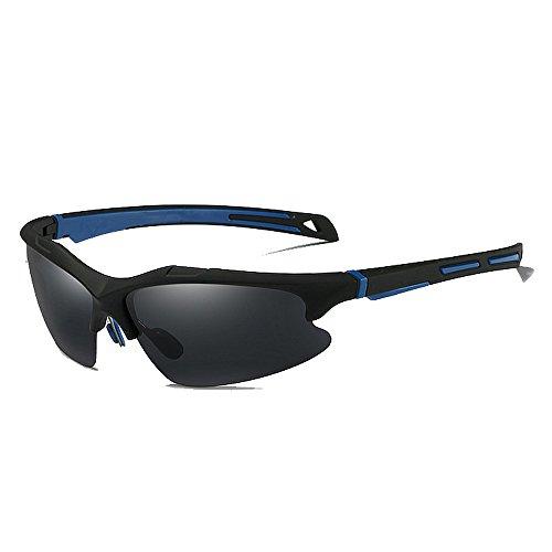 Belleashy Gafas de ciclismo para hombre, polarizadas, UV400, protección semicirria, duradera, para conducir, ciclismo, correr, pesca, golf (color C2)