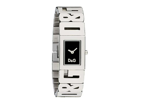D&G Dolce&Gabbana Damen-Armbanduhr SHOUT 4 LOGOS LDY SS BLACK DIAL BRC DW0289