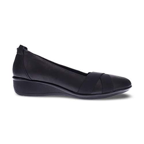 Revere Seoul Women's Slip On Wedge Shoe Onyx - 9 Medium