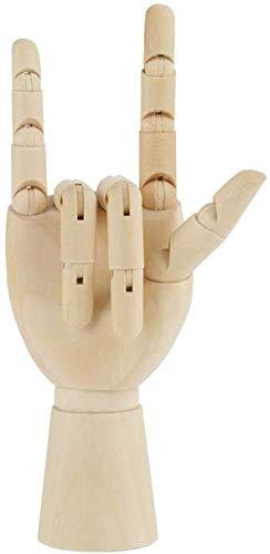 Holz Hand Modell Bewegliche Gelenk Flexible Finger Hand Schaufensterpuppe zum Skizzieren Zeichnung Home Office Schreibtisch Kinder Kinderspielzeug Geschenk (7 Zoll rechte Hand)