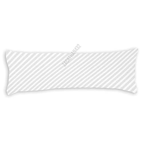 Dom576son Funda de almohada de cuerpo suave de 50,8 x 140,8 cm de largo, funda de cojín de nieve con rayas de caramelo para dormitorio, regalos de inauguración de la casa