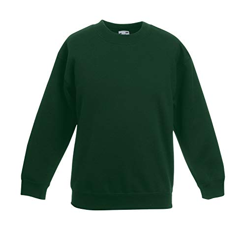 Fruit of the Loom, Kinder-Sweatshirt Gr. 8 Jahre, Flaschengrün