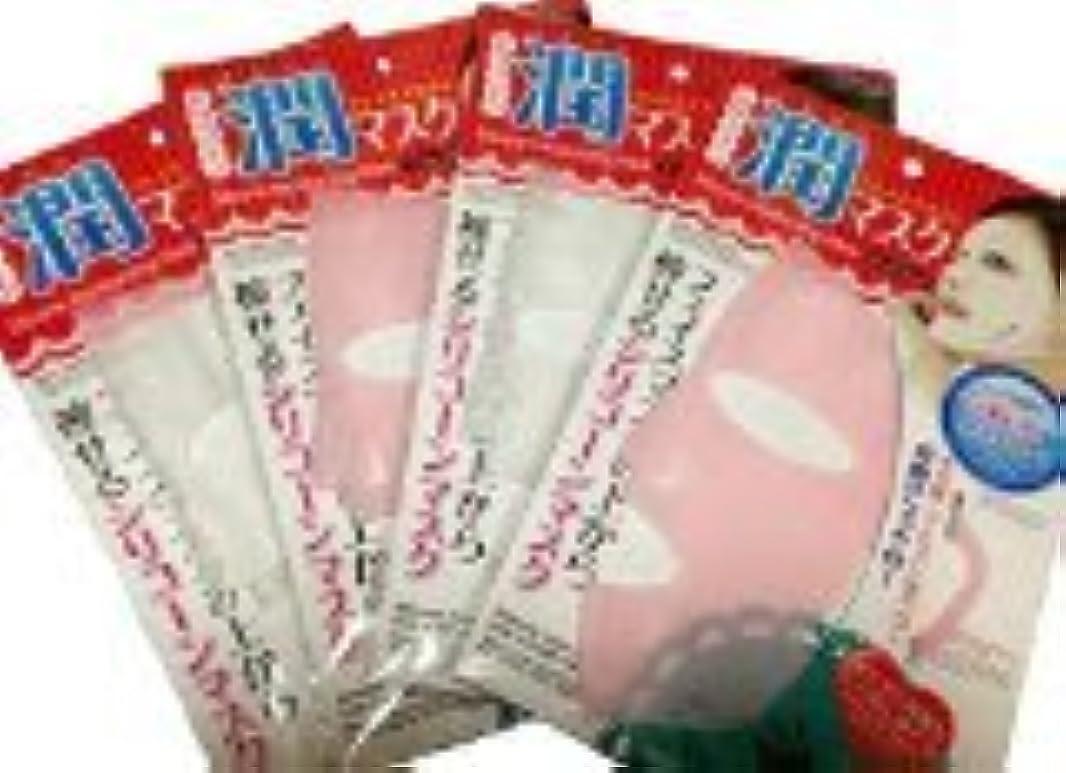 言語学燃料ビデオダイソー シリコン 潤マスク フェイスマスク 4枚セット