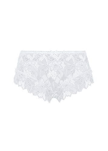 Sans Complexe Damen Slip, Uni, Weiß, 40 (Herstellergröße: 42/44)