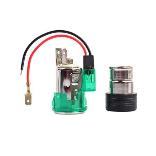 Vosarea Auto zigarettenanzünder grün 12 v led licht Motorrad zigarettenanzünder Steckdose stecker (grün)