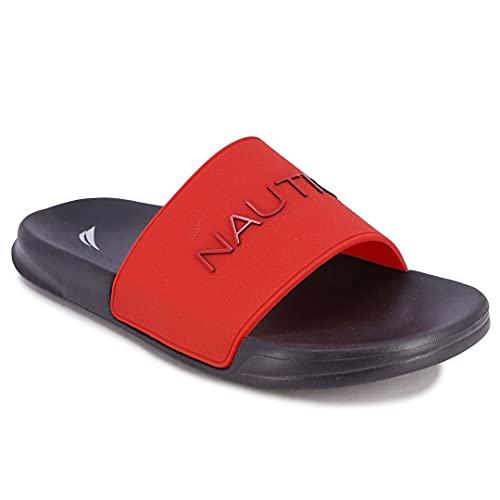 Nautica Men's Athletic Slide Comfort Sandal-Dolan-Red-9