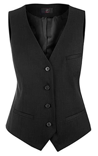 GREIFF Damen-Weste Anzug-Weste MODERN Slim fit - Style 1246 - schwarz - Größe: 88