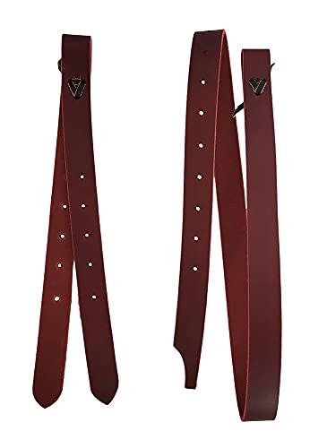 A&M Reitsport Tie-Strap + Off Billet para silla de montar de Latigo, piel, color marrón