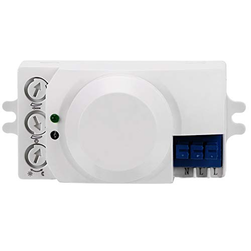 Changor Interruptor de Sensor de Ahorro-energía, 8,7 * 4.1 * 4.1 cm 0,9W 220-240V / Detector de Sensor de Movimiento de CA Hecho de plástico