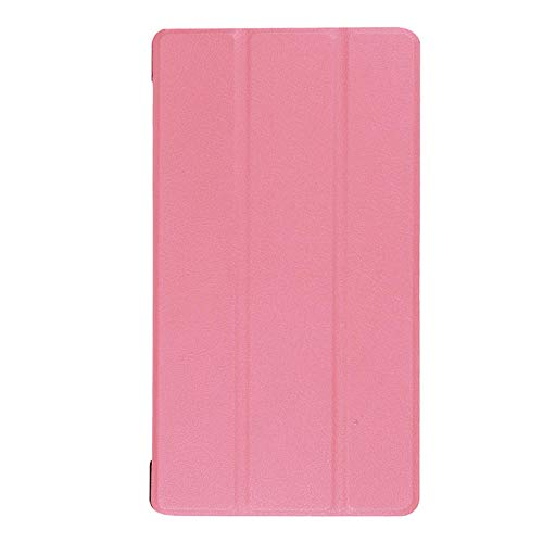 Adecuado para Lenovo Tab 7 Funda para Tablet PC Essential TB-7304F Soporte de Plegado Triple Funda de Cuero de 7 Pulgadas-Rosado_Lenovo / Lenovo