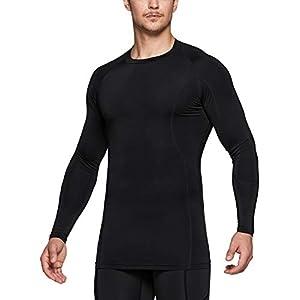 (テスラ)TESLA 長袖 ラウンドネック コンプレッションシャツ 冷感 スポーツウェア [UVカット・吸汗速乾] コンプレッションウェア ランニングウェア スポーツ シャツ 冷感インナー MUD31-BLK_M