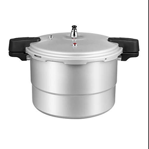 Schnelldruckkocher mit hohen Kapazität Topf Multifunktions- Aluminiumlegierung Sicherheitsexplosionssicher mit Zubehör 15L, 17L (Color : Silver, Size : 15L)