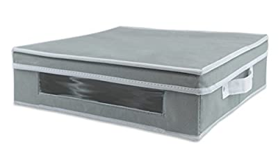 DII Dinner Plate Storage Bin with Separators for Protecting or Transporting Dinnerware or Fragile China