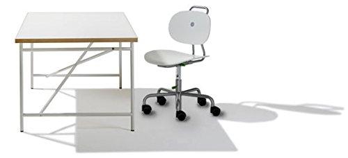 Zestaw wystawowy – biurko dziecięce jajka 150 x 75 cm białe + krzesło Turtle białe – meble Richard Lampert