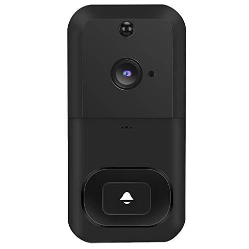 LXT-KL Timbre de video de 3,6 mm, con anillo de gran angular, detección de movimiento avanzada, timbre de video que reemplaza tu mirilla con video 720P y conversación bidireccional.