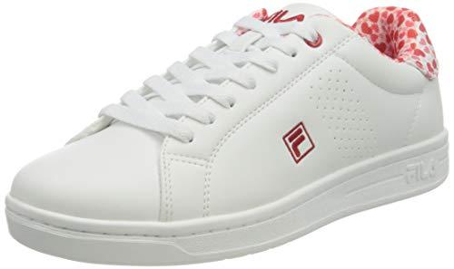 FILA Crosscourt 2 F wmn zapatilla Mujer, blanco (White/Fila Red), 38 EU