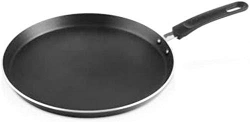 Wok panoramique poêle antiadhésive, plaque 28cm pas coller crêpes frites Piban Suede gâteau foyer au gaz cuisinière à gaz de cuisson de la peau universelle, Frying Pan Batterie de cuisine,noir,28cm