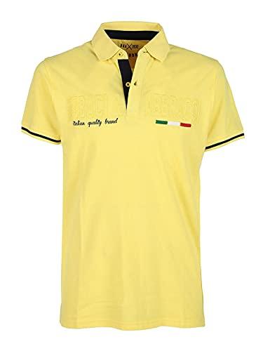 B&A Polo Uomo Mezza/Manica Baci&ABBRACCI 100% Cotone - BAM2120 (M, Giallo)