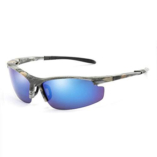 Sonnenbrille Polarisierte Sonnenbrille Herren Vintage Camouflage Sonnenbrille Für Männliche Brille Shadow Uv400-Blau