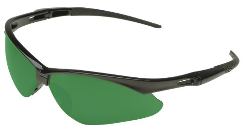 Jackson Safety 3004761 Nemesis Cutting Safety Glasses Black Frame/IRUV 5.0 Shade Green Lens (19860)
