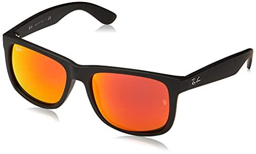 Ray-Ban Hombre Justin gafas de sol RB4165, Negro, Negro (Gold 622/5A), One Size