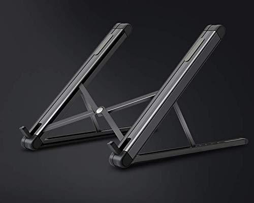 APROTII Soporte para ordenador portátil, plegable, de aluminio, soporte para tableta portátil, compatible con portátil de 11 a 15.6 pulgadas, portátil, tableta, portátil