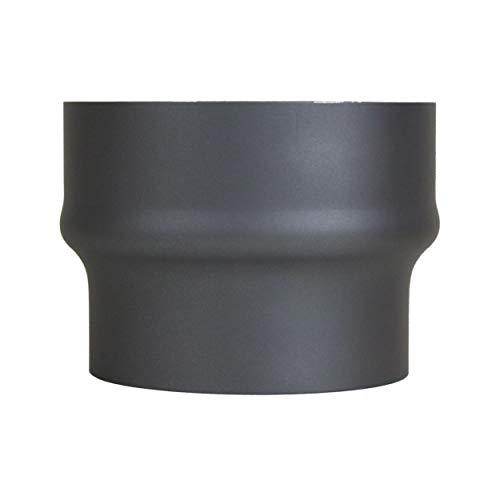 LANZZAS Rauchrohr Erweiterung von Ø 150 mm auf Ø 180 mm - Farbe: gussgrau - Ofenrohrerweiterung