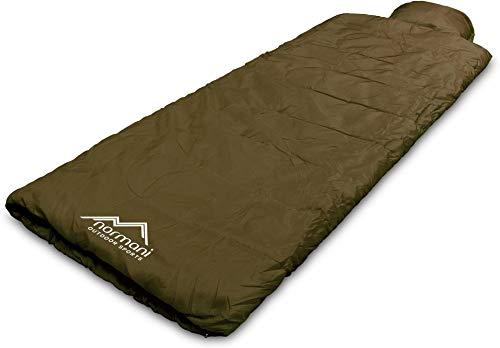 normani Einzel Schlafsack Pilotenschlafsack mit integriertem Kopfkissen Farbe Pilot/Oliv