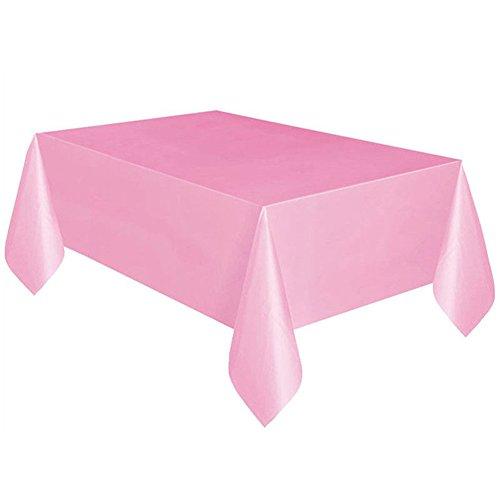 Mantel desechable rectangular para fiestas de Navidad, 137 x 274 cm, para Navidad, bodas, cumpleaños, Halloween, fiestas 137 * 274cm rosa claro