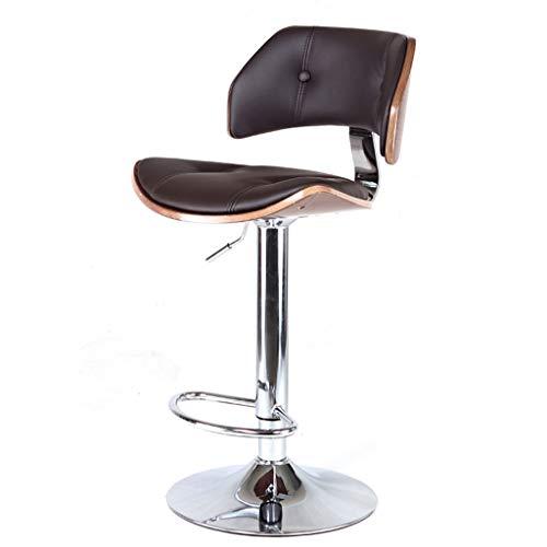 Chaises de réception Chaise de Bar Chaise de réunion Siège de Salle à Manger en Bois Massif Tabouret de Repos de Chambre à Coucher Chaise de Banque Chaise Haute Vintage en Bois tournante