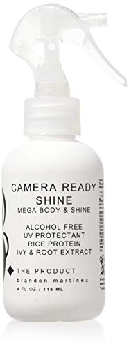 Thermal Protection Spray For Shine And Hold-Best Thickening Hair Product, Volumizing Spray For Fine Hair-Heat Protectant Spray-Aerosol Free, B. THE PRODUCT Camera Ready Shine (4oz)